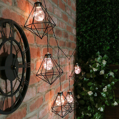 1M Plug In Outdoor Garden Festoon Patio Industrial Cage Fairy String Led Lights