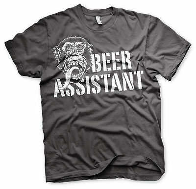 Gas Monkey Garage Beer Assistant Affe Männer Men T-Shirt Dunkelgrau Dark Grey