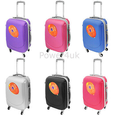 Suitcase Travel Luggage Cabin Trolley Hard Shell Lightweight 4 Wheels With Lock