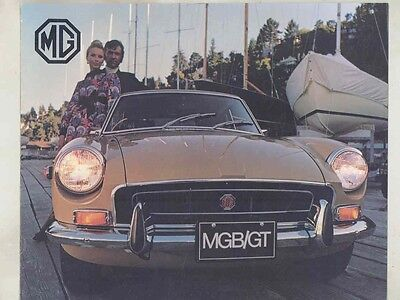 1972 MG MGB GT Brochure ww1266