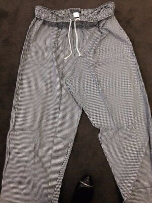 Black/White checked Baggy Chef pants in  XL, 2XL