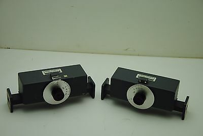 Hewlett Packard X375A Variable Attenuator ***FOR PARTS***-LOT OF 2-