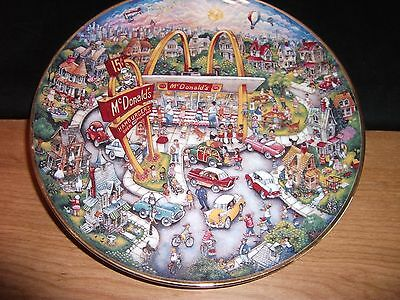 McDonalds Golden Moments by Bill Bell Limited Edition Plate Franklin Mint