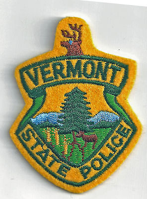 VERMONT STATE POLICE - POCKET/HAT SIZE - IRON or SEW-ON PATCH