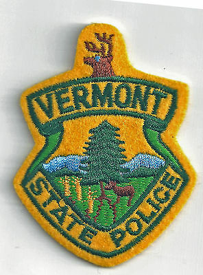 Vermont State Police - Crest Iron On Patch