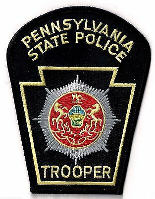 PENNSYLVANIA STATE POLICE TROOPER - POCKET/HAT SIZE - IRON or SEW-ON PATCH