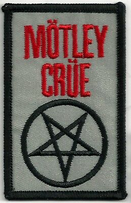 MOTLEY CRUE - PENTAGRAM - IRON ON or SEW ON PATCH