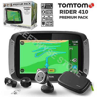 Tomtom Rider 410 Great Rides Premium Pack Gps Motorcycle Sat Nav World Maps