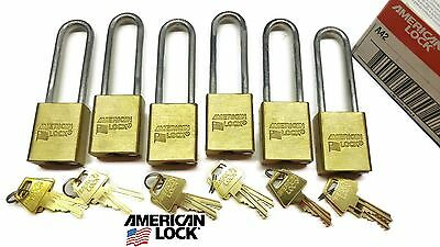 American Series 40 5530 Solid Brass Marine Weatherproof Pad Locks Keyed Alike