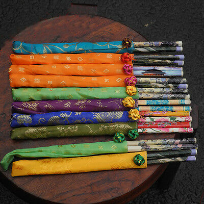 10 Pairs Chinese Style Bamboo Chopsticks Sticks Dinner Wood Tool Table Gift Set