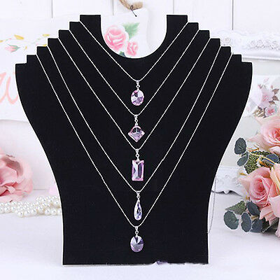 Necklace Jewelry Pendant Chain Display Holder Neck Velvet Stand Glamorous