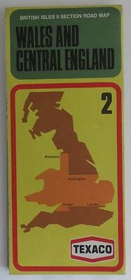Vintage Texaco Wales And Central England Road Map                  (Inv11063)