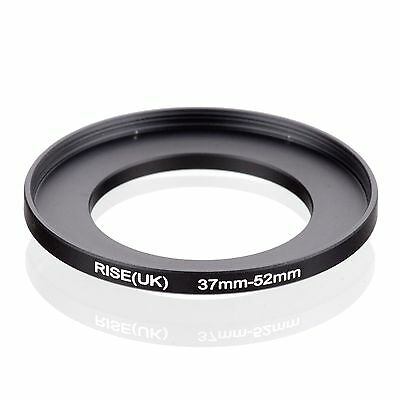 RISE(UK) 37-52mm 37-52  Step-Up Metal Lens Adapter Filter Ring Camera Adapter