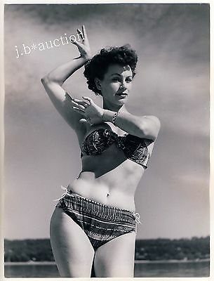 Mode JUNGE FRAU IM BIKINI YOUNG WOMAN Fashion * Vintage 50s SEUFERT Photo