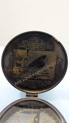 sinking of the  TITANIC COMPASS NAUTICAL COLLECTIBLE REPRODUCTION ITEM