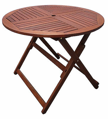 Outdoor Round Folding Table 90cm