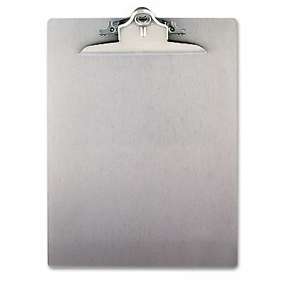 """Saunders Aluminum Clipboard with High-Capacity Clip Holds 8 1/2"""" x 12"""" - Silver"""