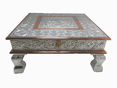 Indian Bajath Bajoth Chowki Puja Table Low Table Wedding with Storage Camping
