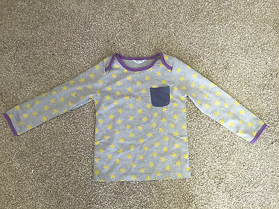 Baby Boden Grey with Yellow Stars Top Size 3-6 6-12 12-18 18-24 2-3 (C1)