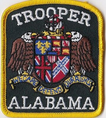 ALABAMA TROOPER - CREST - IRON or SEW-ON PATCH