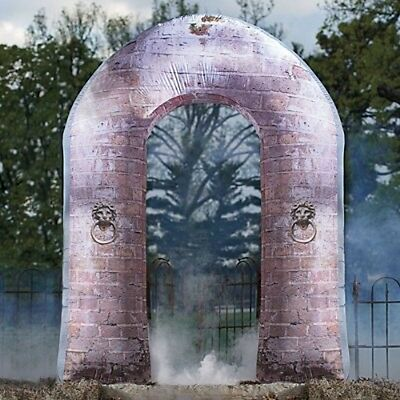 Halloween Inflatable 8' Led Gothic Stone Archway Airblown Yard Decoration