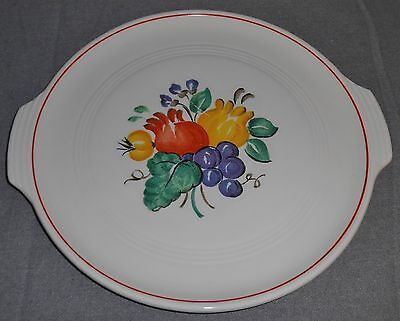KNOWLES Utility Ware SEQUOIA PATTERN Tab Handled CAKE PLATE