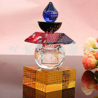 Colorful Crystal Tower Buddhist Bones Pagoda Carving The Great Dharani Sutra