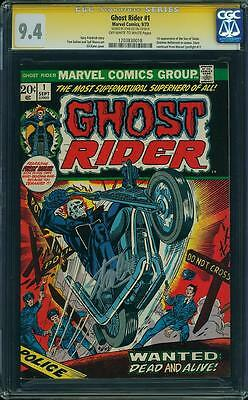 Ghost Rider #1 CGC 9.4 NM 1973 Stan Lee Signature! 1st Son of Satan! F7 118 cm