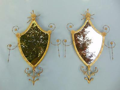 Stunning Pair of 19th Century Gilt and Gesso Mirrors