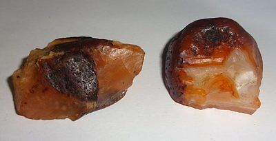 2pc #EE  Raw A-Grade Fire Agate from Mexico Healing Crystal Gemstone Specimens