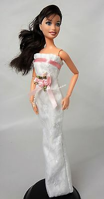 Handmade fully lined Wedding dress for Barbie - Barbie doll NOT INCLUDED