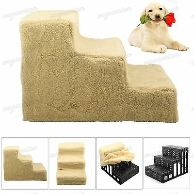 New Pet Dog Ladder 3 Steps Soft Stairs Puppy Washable Cover Ramp Folding Doggy
