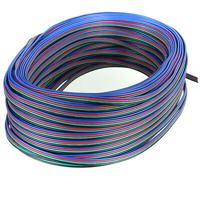 Wholesale 1-100M 4 Pin Extension Wire Connector Cable for RGB LED Strip Lights