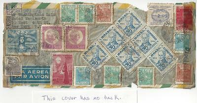 1945 - Brazil To USA - 21 Stamps - Airmail - WW2 Censored