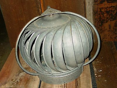 Vintage Galvanized Metal Barn Roof Turbine Architectural Industrial Cooling Vent