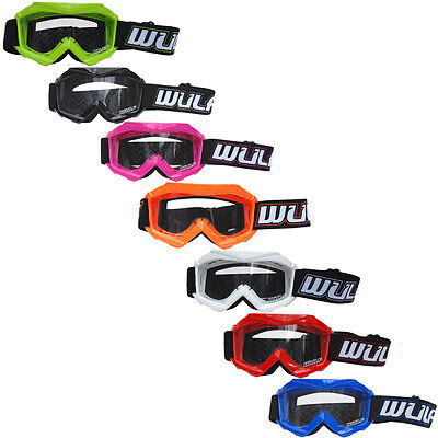 Wulfsport Wulf Cub Kids Childrens Youth Tech Motocross MotoX MX Quad Goggles