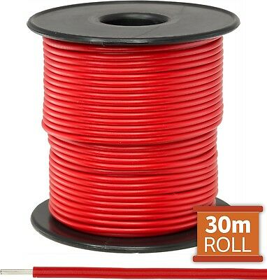 Red Hookup Wire/ Cable Sold As A Roll Of 30M