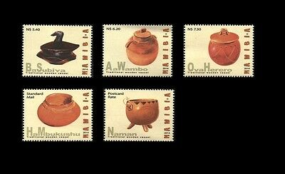 Namibia 2014 Traditional Wooden Vessels Set. MNH