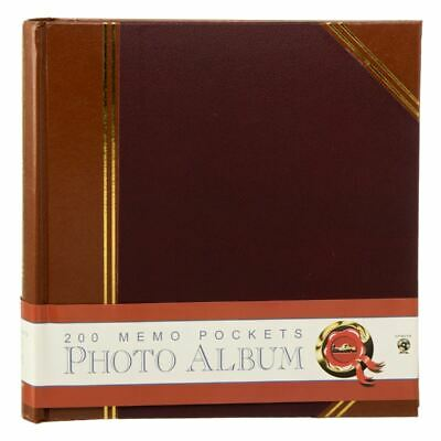 "Innova Duo Leatherette Memo Photo Album 50 Slip-In Leaves Hold 200 6 x 4"" Photos"