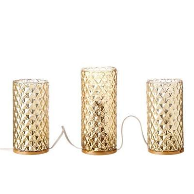 "NEW Raz 60"" Antiqued Gold Glass Pillar Christmas Candle Strand 3416136"