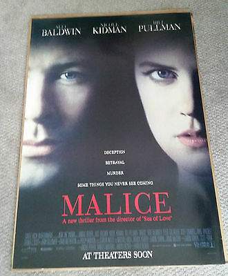 Malice (1993) Original One Sheet Movie Poster 27x40 Nicole Kidman