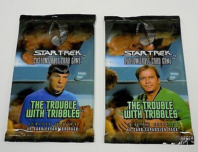 Star Trek 2 x The Trouble With Tribbles Booster Pack from Box NEW CCG Card Game
