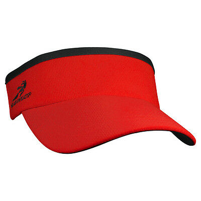 Headsweats Supervisor Running Fitness Sports Cap Hat Visor, One Size, Red