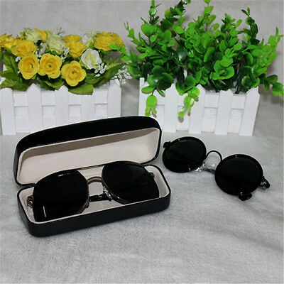 PU Leather Clam Shell Hard Case Box Holder for Eye Sunglasses Reading Glasses