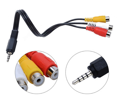 AUDIO JACK CONNECTOR 3.5mm ADAPTER STEREO HEADSET GOLD PLATED DUAL 4POLE RED