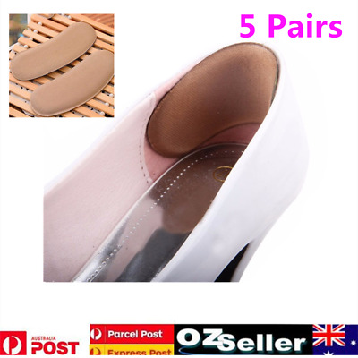 5 Pair Extra Sticky Fabric Shoe Heel Inserts Insoles Pads Cushion Grips Relieve