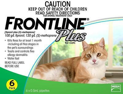 The Only Tick Control For Cats Frontline Plus For Cats 8Mths/dogs 6Mths $28.75