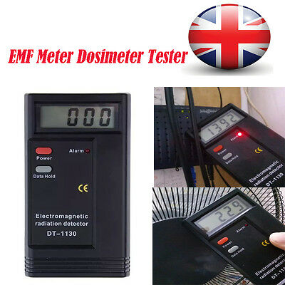 Digital LCD Electromagnetic Radiation Detector Dosimeter EMF Tester Meter 9V UK