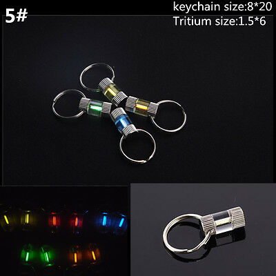 Acrylic Keychain Self illuminating GLOW LIGHT 25 yrs Tritium Marker Safe ST332-5