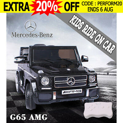 Kids Electric Ride on Car Licensed Mercedes Benz AMG G65 Children Remote Black